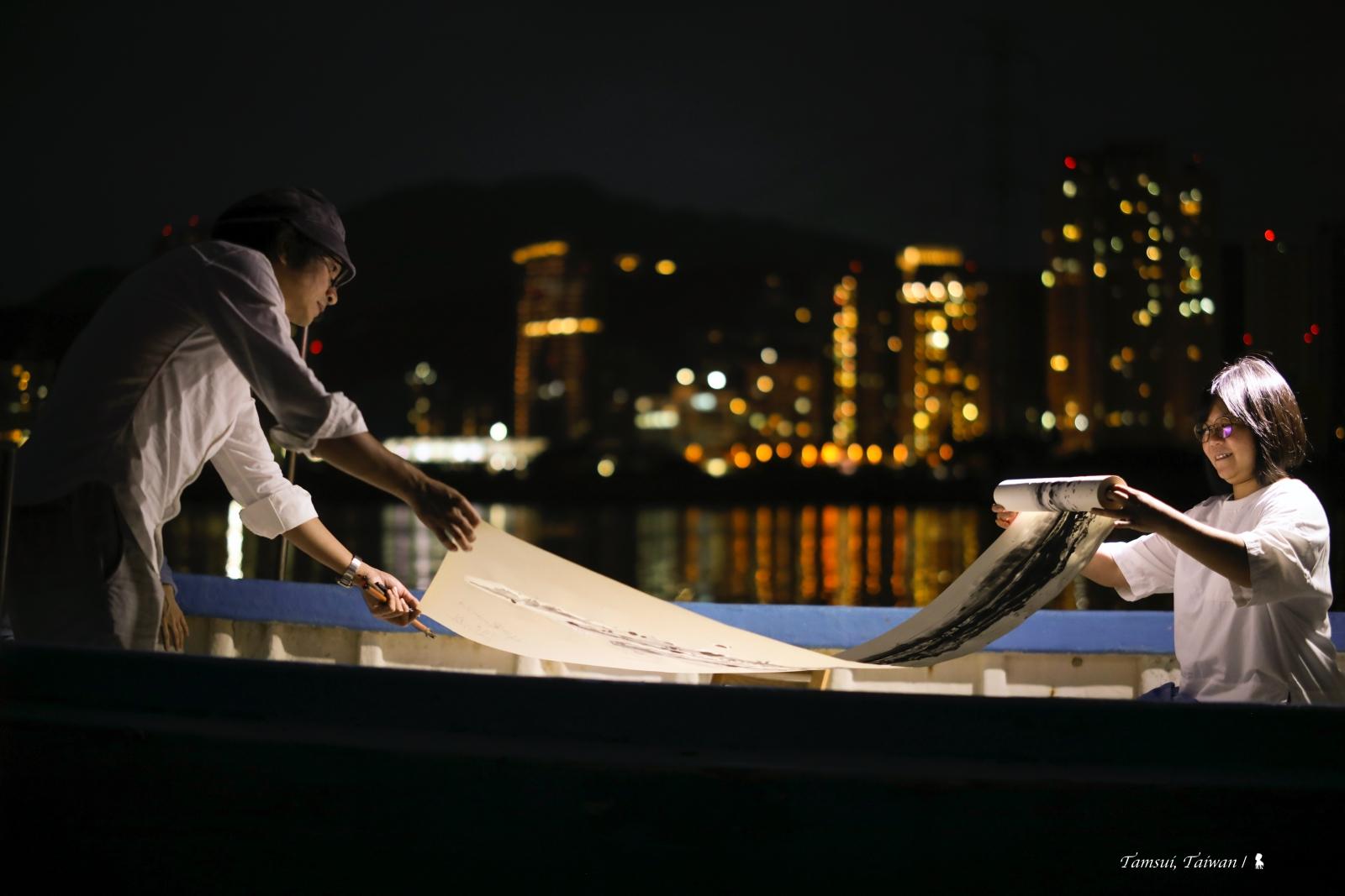 淡水河上的舢舨茶席,一趟文化采風的創作舟旅