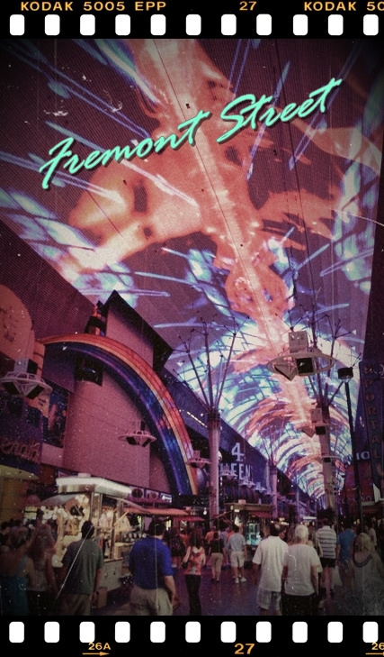 [2010 大美旅] 到老城區重溫賭城舊時代風華  跟佛蒙特電腦燈秀一塊搖滾! @賭城。內華達州