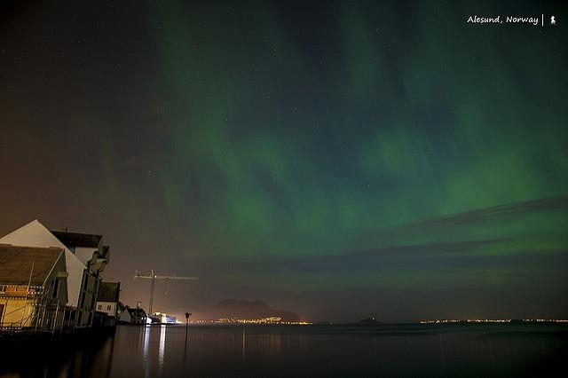 挪威奧勒松,意外的北歐九月極光初體驗