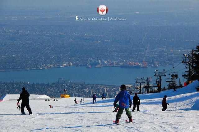 掉入溫哥華市景的無邊際滑雪場  二訪放晴的 Grouse Mountain