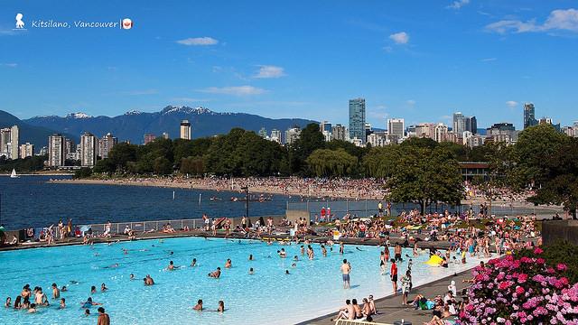 加拿大第一長!夏季限定的137公尺鹹海水泳池