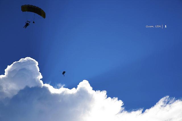 告別青春前的極限一跳,高空跳傘在關島