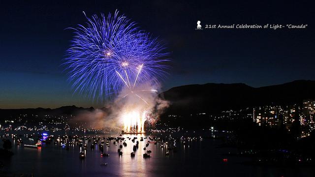 盛夏的璀璨花火  溫哥華國際煙火大賽
