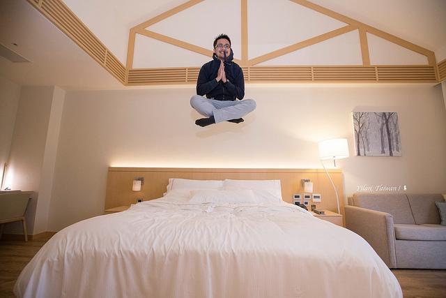 宜蘭威斯汀溫泉酒店,讓斜頂挑高的自然系客房喚醒玩心
