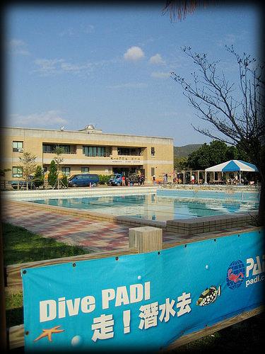 春節假期之墾丁學潛水拿執照-10米深藍泳池受訓篇